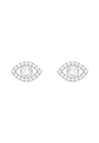 Swarovski silver Luckily Fig Evil Eye Earrings D52D2ACAF0528DGS_1
