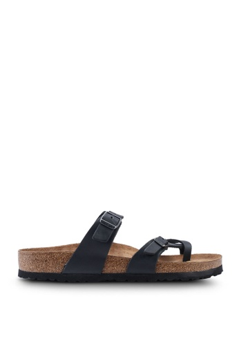 Birkenstock black Mayari Oiled Leather Sandals 700C2SHDB2A221GS_1