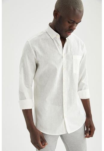 DeFacto white Long Sleeve Shirt 84844AA6DD8BFDGS_1