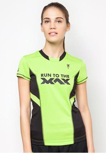 AMNIG 綠色 Amnig Women Run To The Max Running Tee 928C5AA5372054GS_1