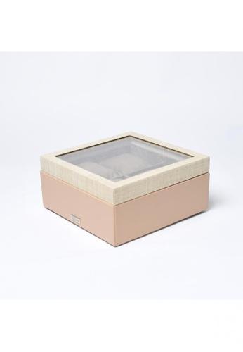 Grassroots beige Watch Box (Small) 12F33HL403B815GS_1