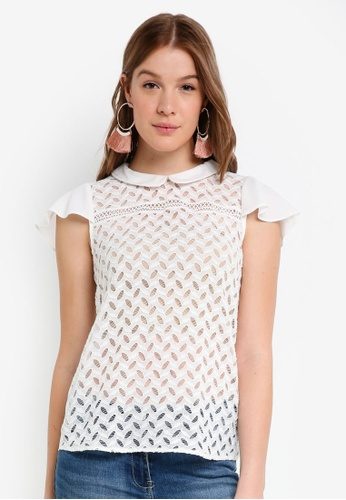 OVS white Lace Blouse F35A6AAFD7DF60GS_1