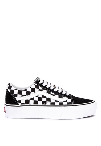 1214f38c797 Shop VANS Checkerboard Old Skool Platform Sneakers Online on ZALORA  Philippines