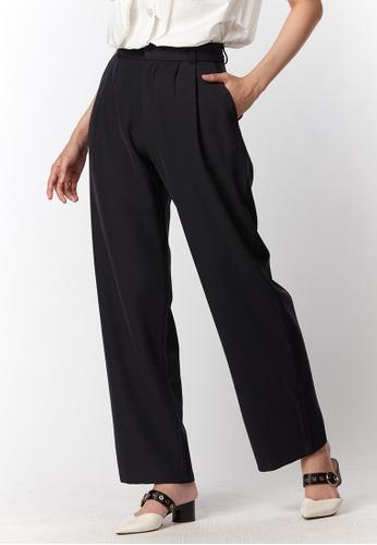 What To Wear black Side Pockets Trousers in Black B5C65AAA023381GS_1