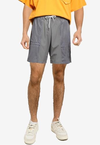 niko and ... grey Mesh Shorts 3EE3DAA5BE1CB7GS_1