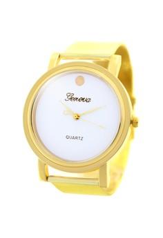 Geneva Full Moon Stainless Steel Watch BUS074 (White/Gold)