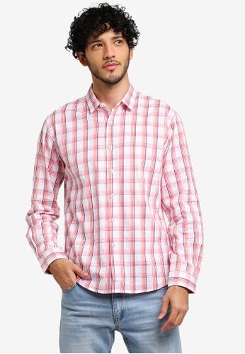 JAXON red and multi Checkered Long Sleeve Shirt 9798EAAC09C08DGS_1