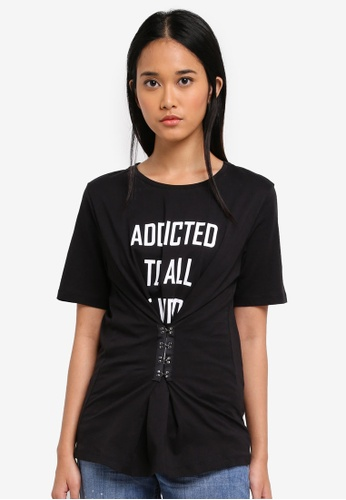 ONLY black ONLY ONE Rayna Hook T-Shirt 48414AAAC25BF3GS_1