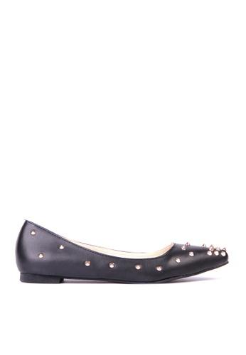 Sunnydaysweety 黑色 限量秒殺品 - 型格新款尖鉚釘尖頭平底鞋C12031Bk SU395SH08ZQOTW_1