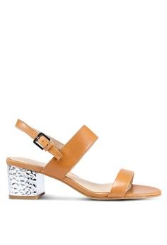 7ad1d8b7444 ALDO brown Brandey Sandal Heels 66BD8SH4075AD5GS 1