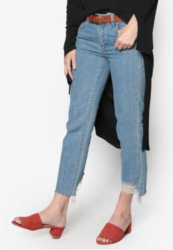 韓式時尚褲腳磨損牛仔褲, 服飾京站 esprit, 牛仔褲