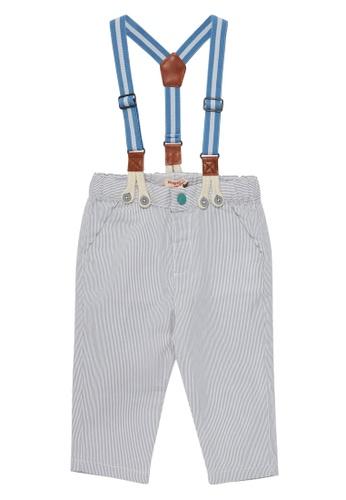 Du Pareil Au Même (DPAM) white Suspender Pants 8D5C1KABB33E31GS_1
