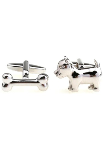 The Little Link Cufflinks silver Dog and Bone cufflinks TH089AC0G301SG_1