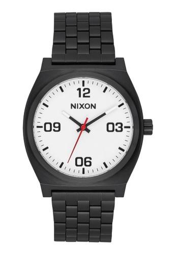 Nixon black Time Teller Corp 40mm - Black/White (A1247005) 0D5A8AC98F7428GS_1