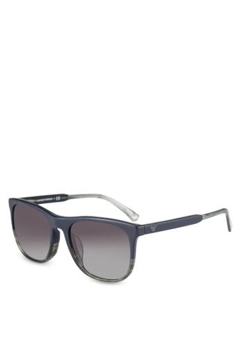 Emporio Armani blue Grey & Blue EA4099F Sunglasses EM212GL0RNIFMY_1