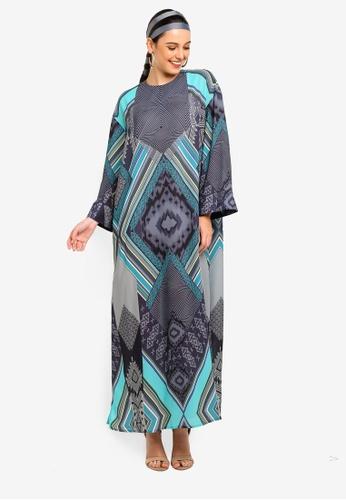 Tom Abang Saufi for ZALORA multi Tapestry Kaftan 3E365AA1E58E7CGS_1