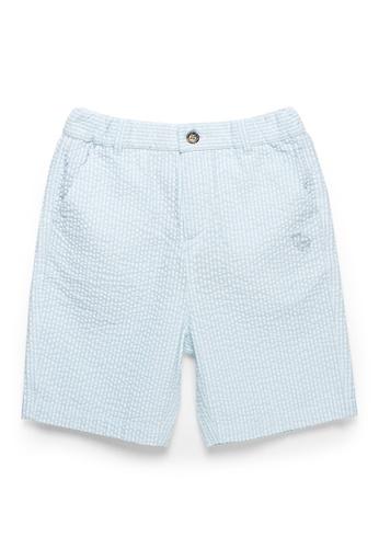 Kingkow blue Cotton Suit Shorts 4-14 years 20DF2KAD58EA87GS_1