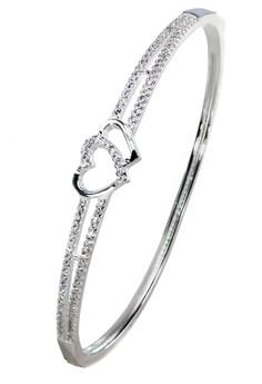 Kynda Couple Heart K2822 Italy 925 Silver Bangle