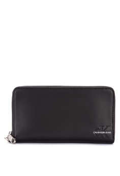 c7aadae66e89 Calvin Klein black Women s Monogram Long Wallet 7C8F2AC86487EDGS 1