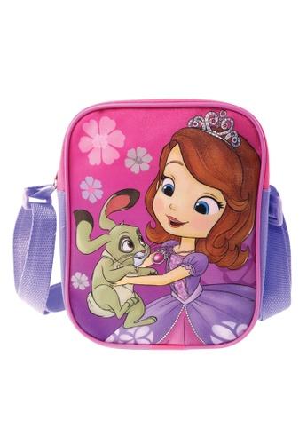 Disney Sofia The First pink and purple Disney Sofia Royalty Dance Sling Bag 81B08KC21C4812GS_1