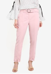 Dorothy Perkins pink Blush Circle Buckle Trousers DO816AA0RQUKMY_1