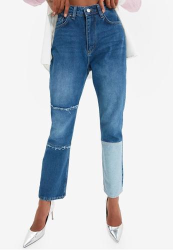 Trendyol blue Blue Straight Leg Jeans D785BAA0813A66GS_1