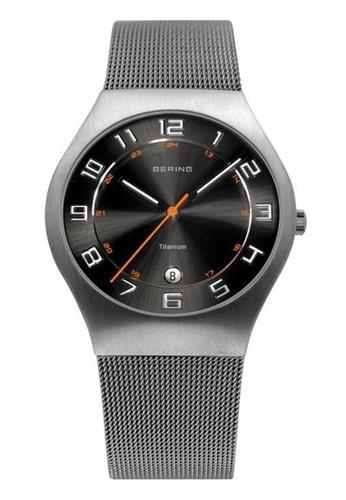 Bering grey Titanium 11937-007 Grey 37 mm Men's Watch AAB27AC6C58A88GS_1
