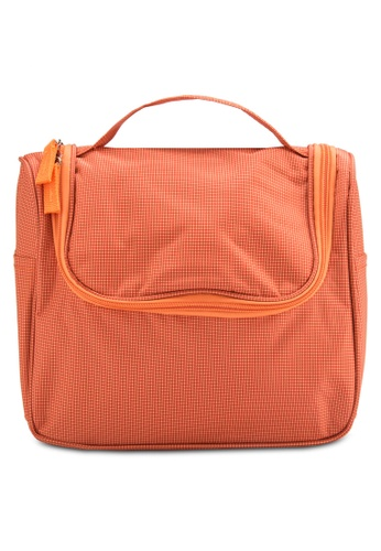 Bagstationz orange Bagstationz Lightweight Water Resistant Travel Organizer and Toiletries Pouch BA607AC14UJPMY_1