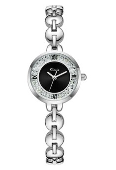 Kimio Classic Silver Wire Watch Black Dial