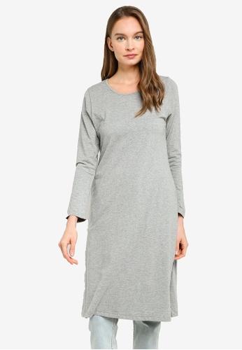 Aqeela Muslimah Wear grey Basic Top 67DE0AA9FDCA99GS_1