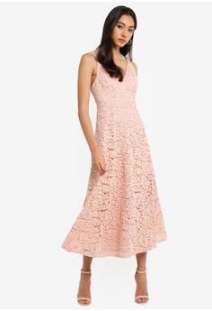 e39144bd20 Bardot pink Genoveve Lace Dress C8DD3AA093B5FAGS 1