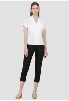 a32d8e4c7aac Cloth Inc Myra Lapel Shirt in White Rp 249.000. Ukuran XS S M L XL