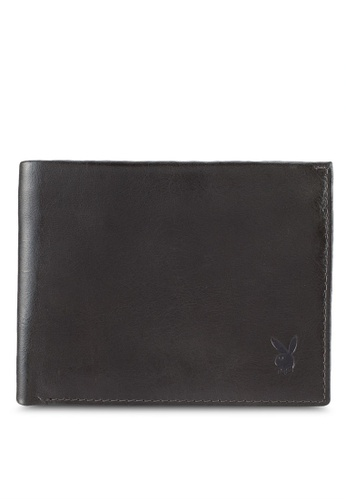 Playboy grey Playboy Genuine Leather Wallet 26B6AACFC9AE93GS_1
