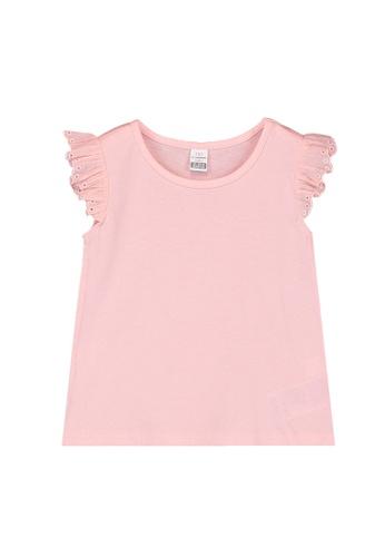 LC Waikiki pink Baby Girl's Basic T-Shirt DD274KA275EA5CGS_1