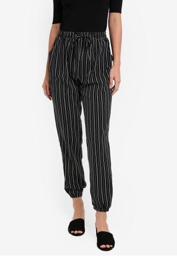 ZALORA black Striped Jogger Pants 36574AA4B2B474GS_1