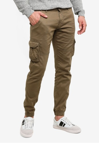 OVS green Trend Cargo Trousers DC0DAAA2CA0871GS_1