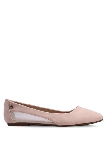 Bata beige Round Toe Ballerina Flats ED61DSH2FD176AGS_1