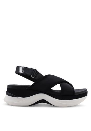 1bc410e2980 ALDO black Bryryan Criss Cross Slingback Wedge Sandals BE527SHF47AEEFGS 1