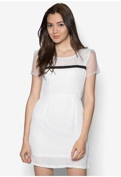Short Sleeve Black Strip Dress
