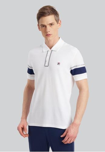 FILA white Special Line Cotton Polo 43DFCAA28B1114GS_1