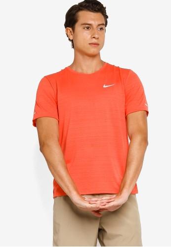 Nike orange Men's Dri-FIT Miler Running Top E1EA2AA80E1A33GS_1