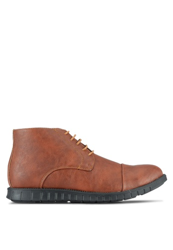 UniqTee brown Chukka Boots With Cap Toe UN097SH0RS4YMY_1