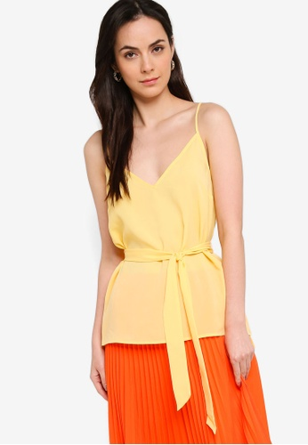 French Connection yellow Asain Light Solid Belted Cami Top 1CA99AAAD657DDGS_1