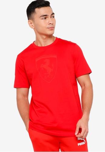 PUMA red Scuderia Ferrari Race Big Shield Tonal Men's Tee 65266AAA4C0993GS_1
