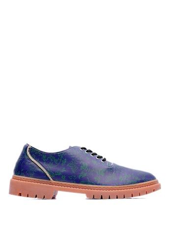 Life8 blue Life8xDaniel Wong。Totem Diagonal Casual Shoes-09278-Blue LI286SH49CCCMY_1