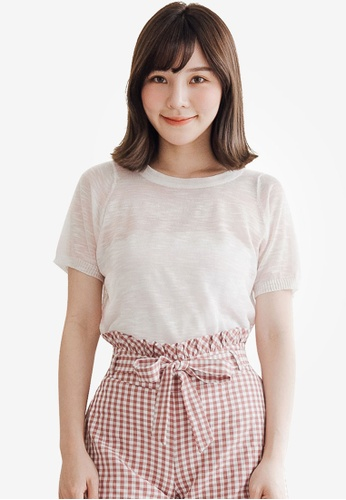 Tokichoi pink Relaxed Stripes T-Shirt AE7FBAA9BE1AF2GS_1