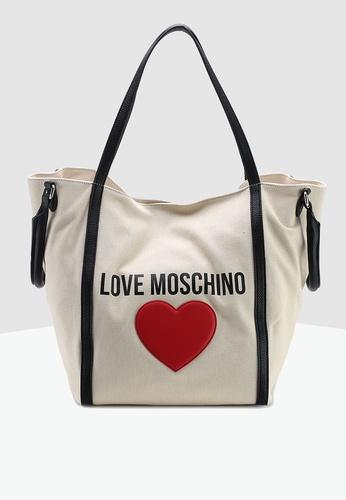 a72f4edb8fccb5 Shop Love Moschino Canvas Tote Online on ZALORA Philippines