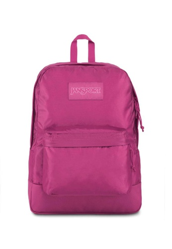 Jansport pink Jansport Mono Superbreak Backpack Magenta Haze - 25L 72D90AC8D4BDE4GS_1