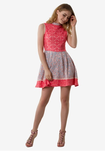 NOBASIC pink Grace Sleeveless Mini Dress NO444AA0FP5PSG_1