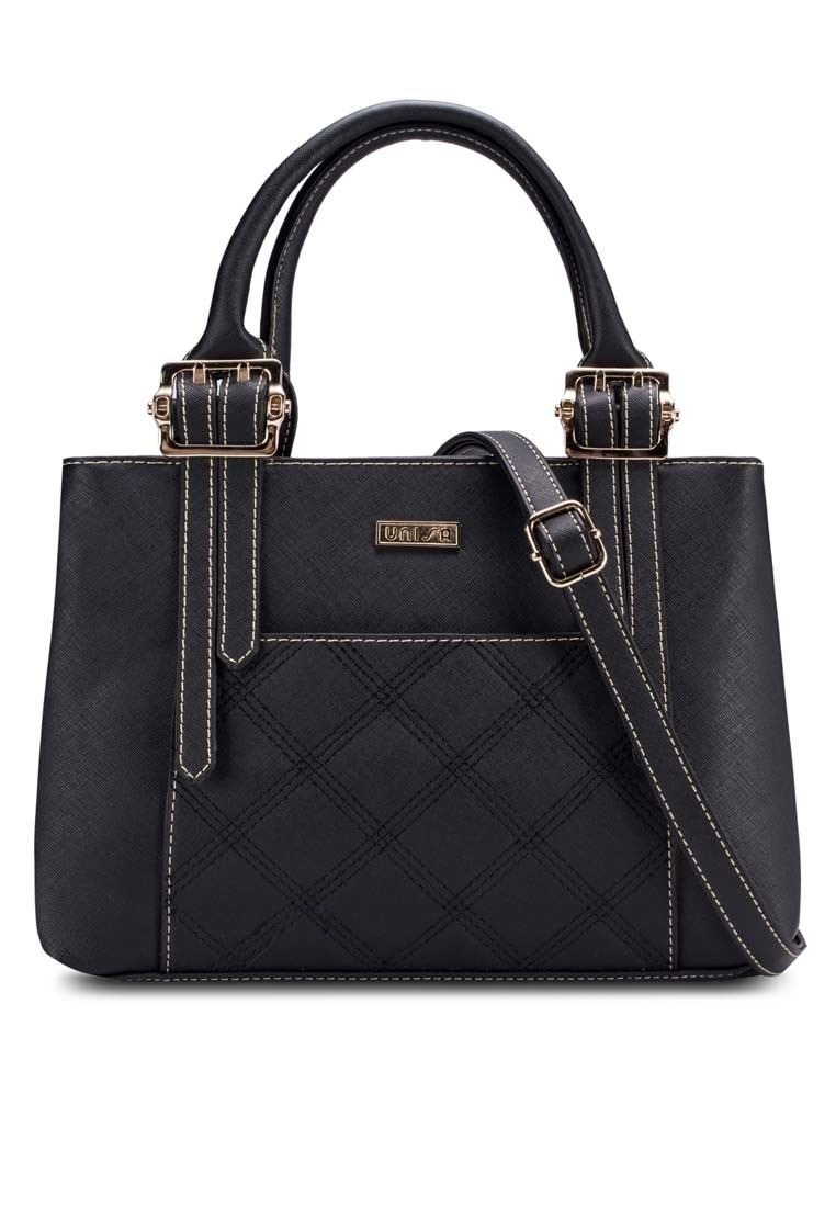 Quilted Saffiano Convertible Shoulder Bag
